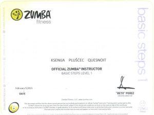 Službena Zumba licenca