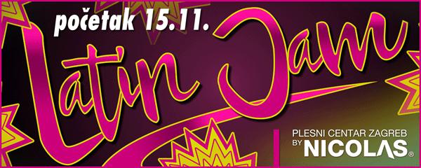 Novi Latin Jam tečaj počinje 15.11.