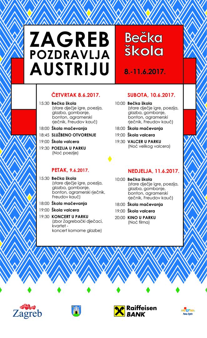 Zagreb pozdravlja Austriju plakat
