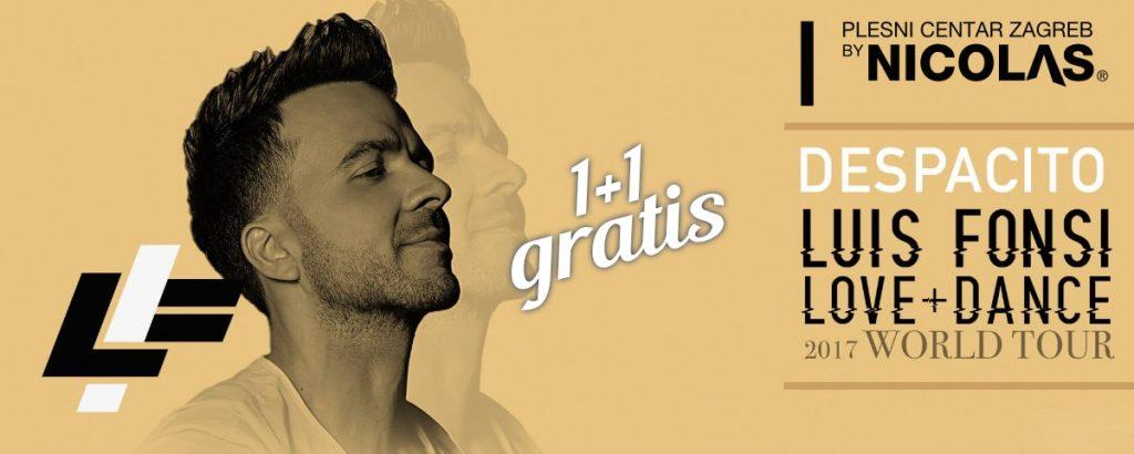 Luis Fonsi Despacito ulaznice 1+1 gratis