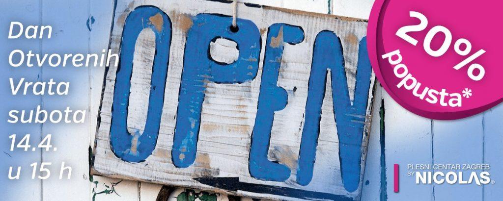Dan otvorenih vrata Plesnog centra Zagreb by Nicolas, 20% popusta na upis
